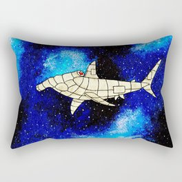 Space Shark Rectangular Pillow