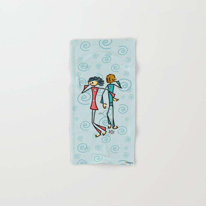 Broken Lovers Hand & Bath Towel