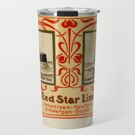 Red Star Line Antwerp New York ocean liners Travel Mug