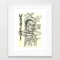 gucci Framed Art Prints featuring Gucci Mane by Maddison Bond