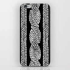 Cable Black iPhone Skin