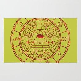 Gravity Falls Bill Cipher Wheel- disorderd Rug