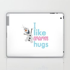 i like warm hugs smiling olaf.. frozen Laptop & iPad Skin