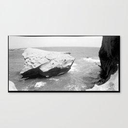 A stone in the Sea Canvas Print