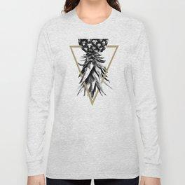 Pineapple Upside Down Geo #1 #tropical #fruit #decor #art #society6 Long Sleeve T-shirt