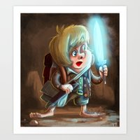 lord of the ring Art Prints featuring Sam for Lord of the ring by Thomas Hsieh