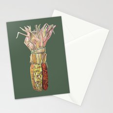 Colorful Corn for Thanksgiving, Autumn, Harvest, and the Holidays Stationery Cards