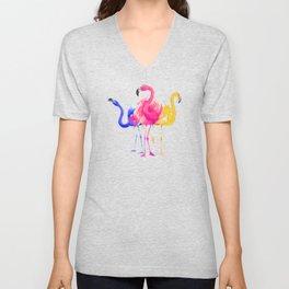 Catwalk Flamingos Unisex V-Neck