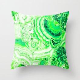 Malachite Green Throw Pillow