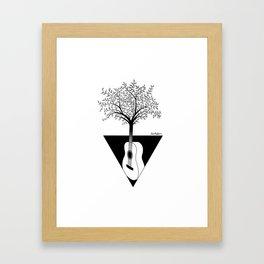 Guitar tree Framed Art Print