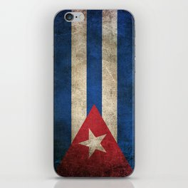 Old and Worn Distressed Vintage Flag of Cuba iPhone Skin