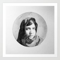 Malala Watercolor Art Print