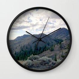 Kamloops mountains scene Wall Clock
