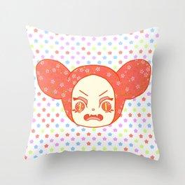 Fuming Rabbit Hood Throw Pillow