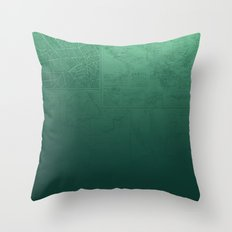 Jade Map Throw Pillow