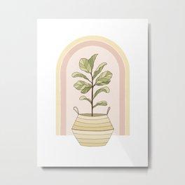 Figgle Leaf Tree Metal Print