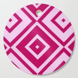 Pink Diamonds Cutting Board