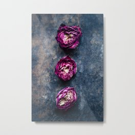 Three Rose Buds II Metal Print