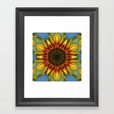 Sunflower Kaleidoscope Framed Art Print