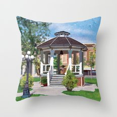 Gilmore Girls Stars Hollow Gazebo Throw Pillow