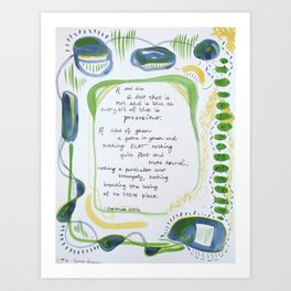 #2 - Every Bit of Blue is Precocious Art Print
