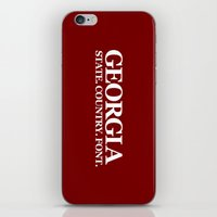 georgia iPhone & iPod Skins featuring Georgia by The Cracked Dispensary