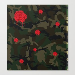rose camo 2 Canvas Print