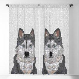 Husky Portrait Blackout Curtain