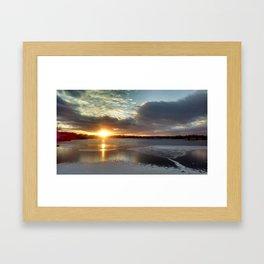 Pine Lake Freezing Framed Art Print