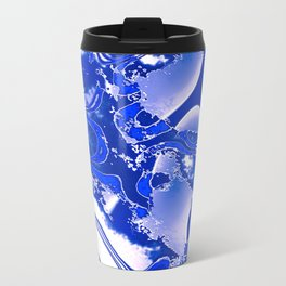 Blue and White Features Travel Mug