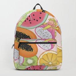 Fruits Set Pattern Backpack