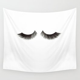 LASHES PRINT, Fashion Illustration,Fashionista,Lashes Wall Decor,Makeup Print,Makeup Bathroom Sign,P Wall Tapestry