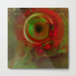 Cyclop fractal Metal Print