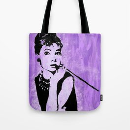 Audrey in Purple Tote Bag