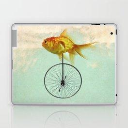 unicycle goldfish Laptop & iPad Skin