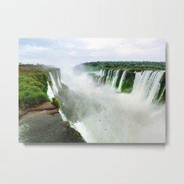Devil's Throat at Iguazu Falls Fine Art Print Metal Print