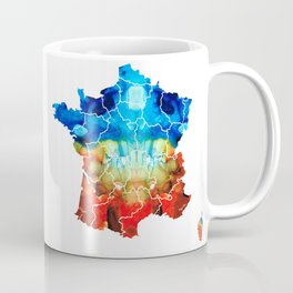 France - European Map by Sharon Cummings Coffee Mug