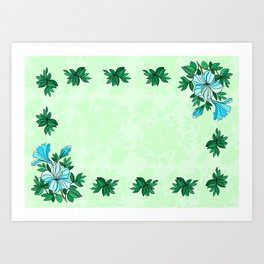 Frame from flowers with background Art Print