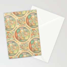 Complex geometric pattern Stationery Cards