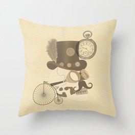 Steam Punked Throw Pillow