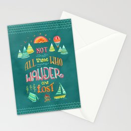 Not All Those Who Wander ii Stationery Cards