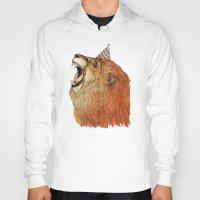 lion Hoodies featuring Birthday Lion by Sandra Dieckmann