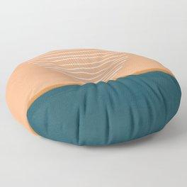 Abstract sun over ocean - mid century modern art  Floor Pillow