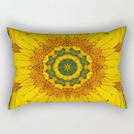 Prairie Coreopsis Mandala Rectangular Pillow