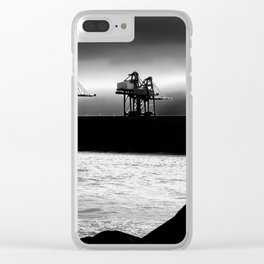 Cranes at Port Talbot Clear iPhone Case