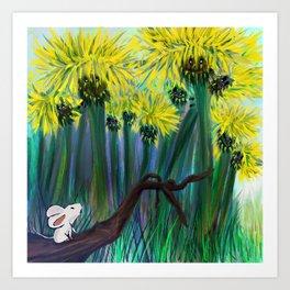 The Dandelion Pass  Art Print