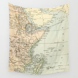 North East Africa Vintage Map Wall Tapestry