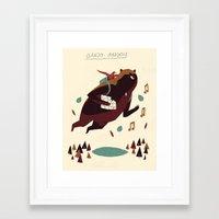 banjo Framed Art Prints featuring banjo-kazooie by Louis Roskosch