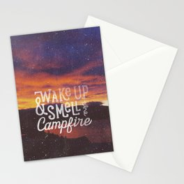 wake up & smell the campfire Stationery Cards