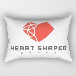 Heart Shaped Games Logo Rectangular Pillow